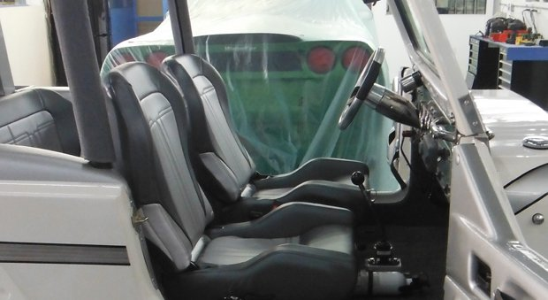 marine vinyl and stainless steal seats