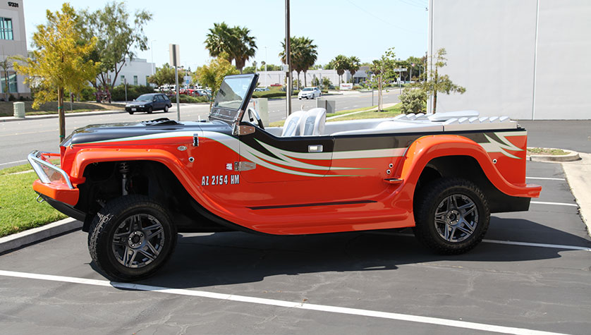 Orange & Black Long Watercar